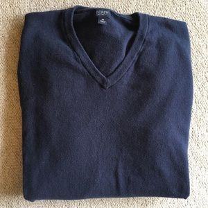 J Crew v-neck navy sweater